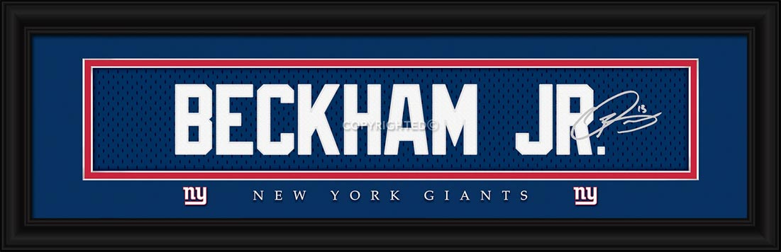 NFL - New York Giants - Signature Jersey Nameplate - Odell Beckham Jr. - Framed Picture