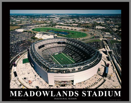 NFL - New York Giants - New Meadowlands Stadium - Med - Plaque Mounted & Laminated Print