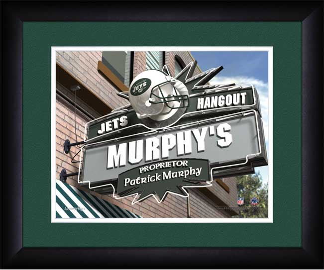 NFL - New York Jets - Personalized Hangout Sign - Framed Picture
