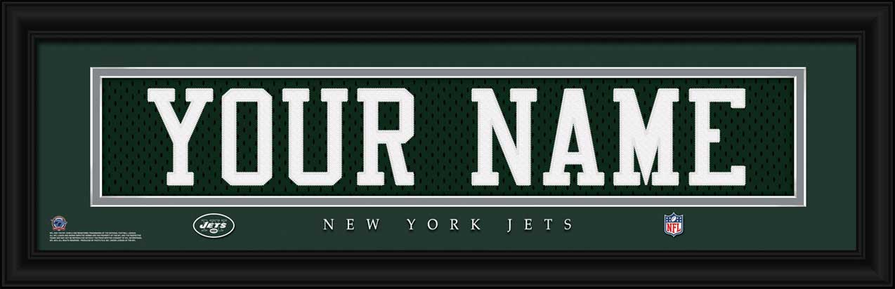 NFL - New York Jets - Personalized Jersey Nameplate - Framed Picture