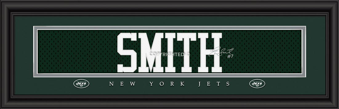 NFL - New York Jets - Signature Jersey Nameplate - Geno Smith - Framed Picture
