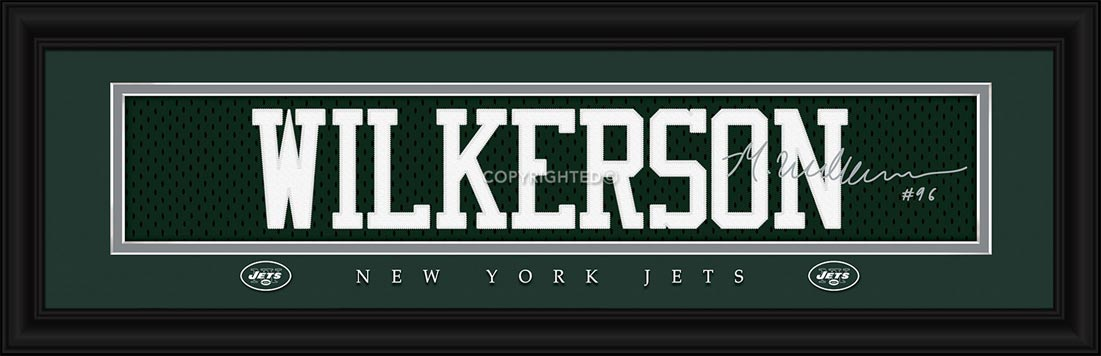 NFL - New York Jets - Signature Jersey Nameplate - Mohammed Wilkerson - Framed Picture