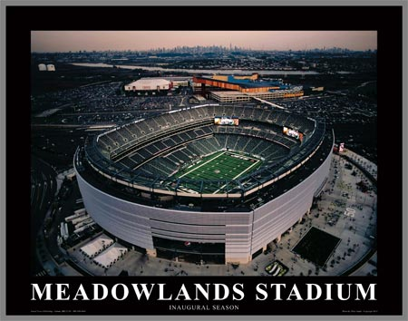 NFL - New York Jets - New Meadowlands Stadium - Med - Plaque Mounted & Laminated Print