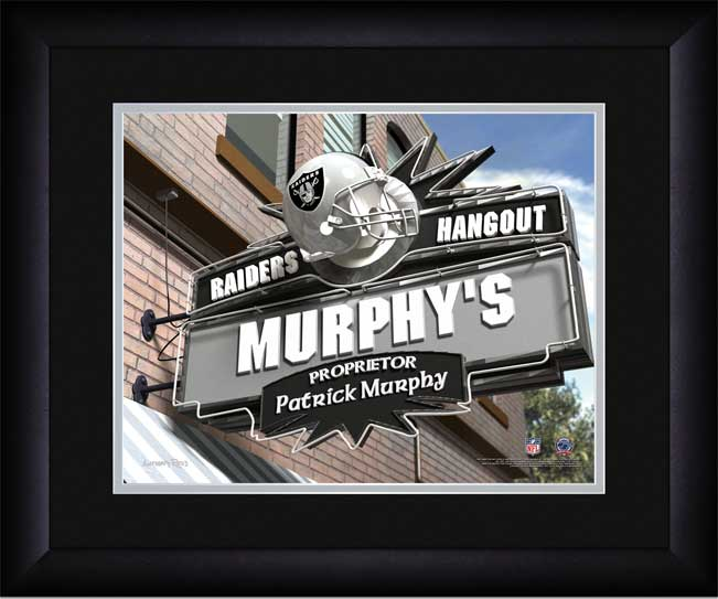 NFL - Oakland Raiders - Personalized Hangout Sign - Framed Picture