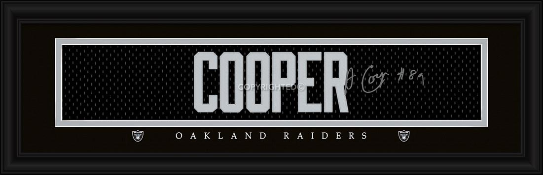 NFL - Oakland Raiders - Signature Jersey Nameplate - Amari Cooper - Framed Picture