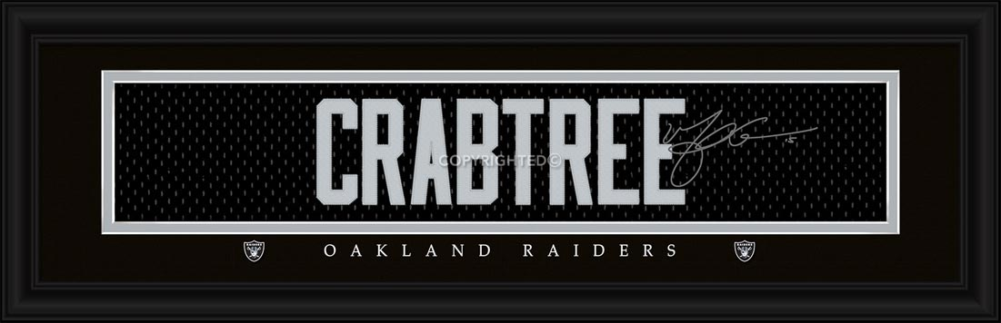 NFL - Oakland Raiders - Signature Jersey Nameplate - Michael Crabtree - Framed Picture