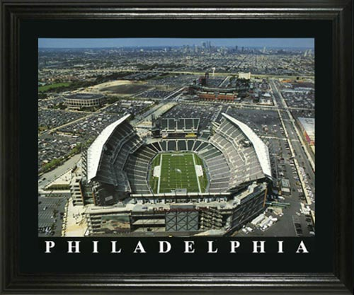 NFL - Philadelphia Eagles - Lincoln Financial Stadium Aerial - Lg - Framed Picture