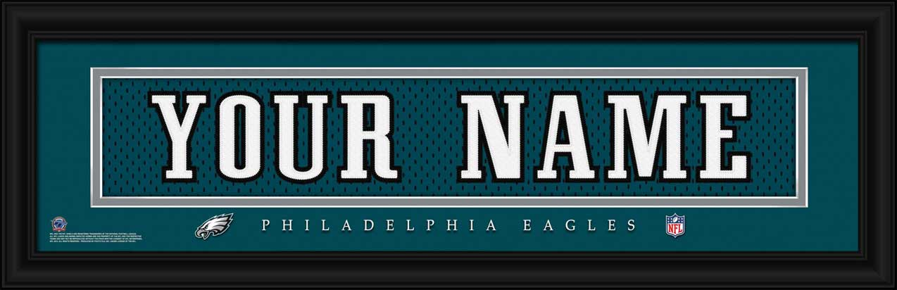 NFL - Philadelphia Eagles - Personalized Jersey Nameplate - Framed Picture