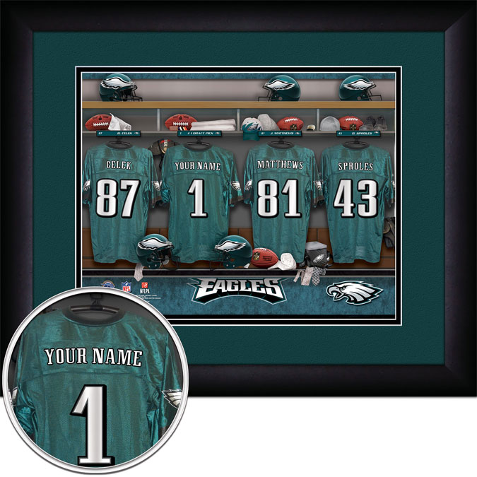 NFL - Philadelphia Eagles - Personalized Locker Room - Framed Picture