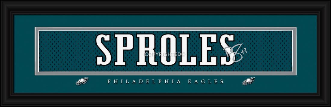 NFL - Philadelphia Eagles - Signature Jersey Nameplate - Darren Sproles - Framed Picture