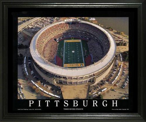 NFL - Pittsburgh Steelers - Three Rivers Stadium Aerial - Lg - Framed Picture