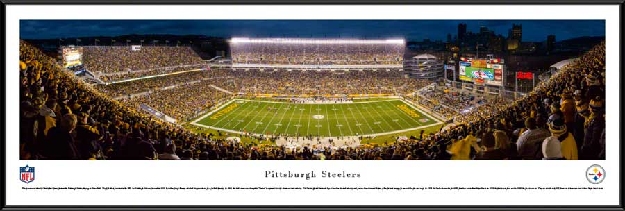 NFL - Pittsburgh Steelers - Heinz Field at Night - 2015 - Framed Picture
