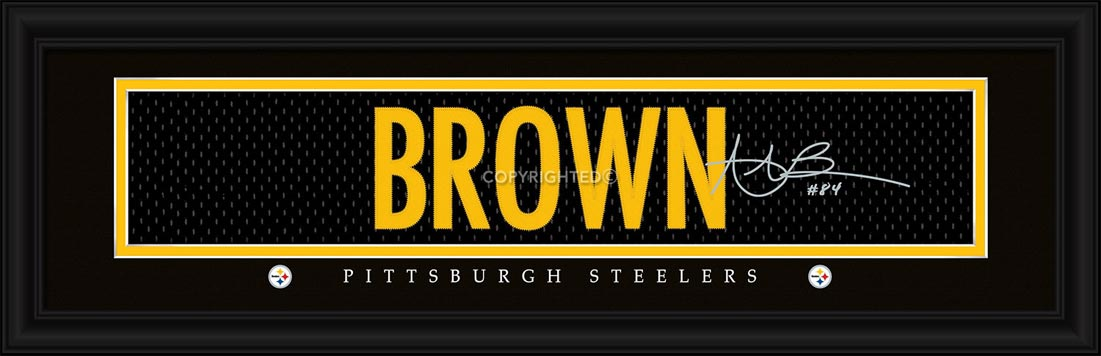 NFL - Pittsburgh Steelers - Signature Jersey Nameplate - Antonio Brown - Framed Picture