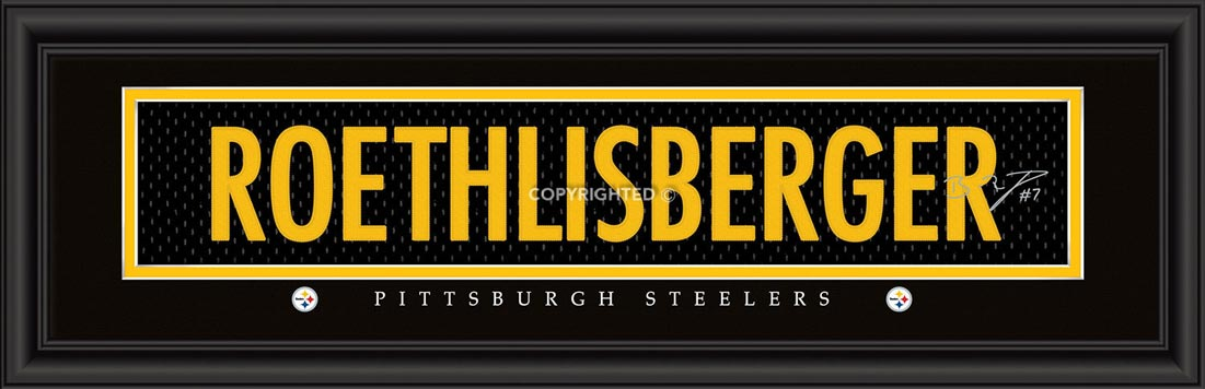 NFL - Pittsburgh Steelers - Signature Jersey Nameplate - Ben Roethlisberger - Framed Picture
