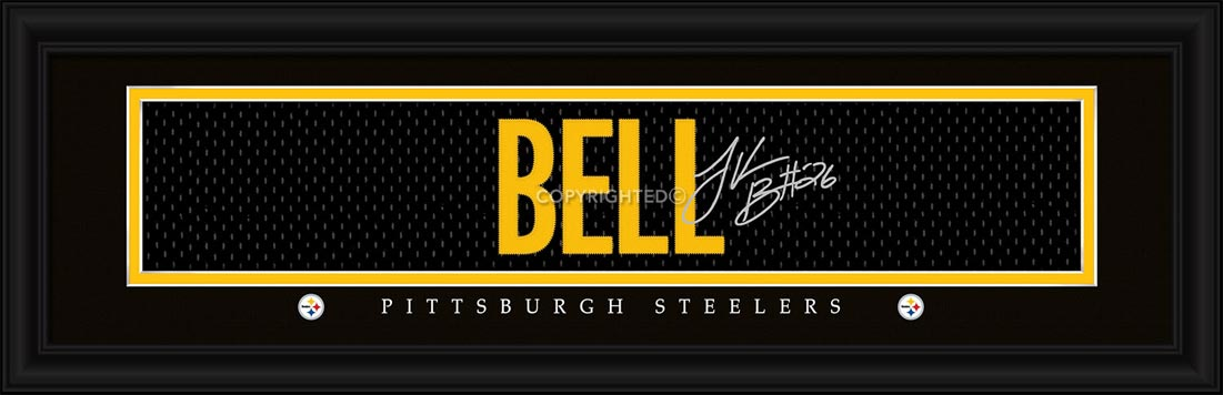 NFL - Pittsburgh Steelers - Signature Jersey Nameplate - Le'veon Bell - Framed Picture