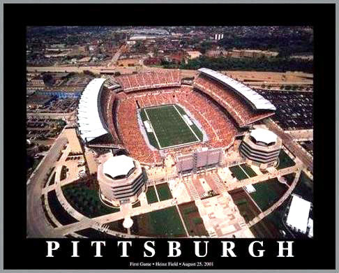 NFL - Pittsburgh Steelers - Heinz Field Aerial - Med - Plaque Mounted & Laminated Print