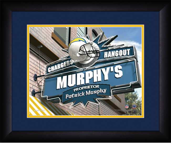 NFL - San Diego Chargers - Personalized Hangout Sign - Framed Picture