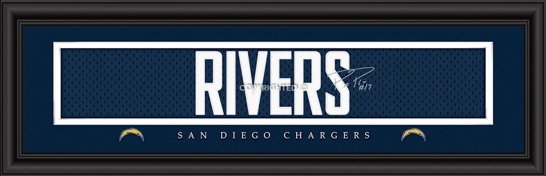 NFL - San Diego Chargers - Signature Jersey Nameplate - Philip Rivers - Framed Picture