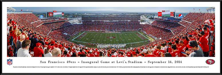 NFL - San Francisco 49ers - Levis Stadium - Inaugural Game - Framed Picture