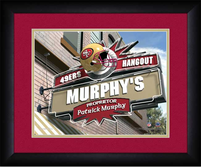 NFL - San Francisco 49ers - Personalized Hangout Sign - Framed Picture