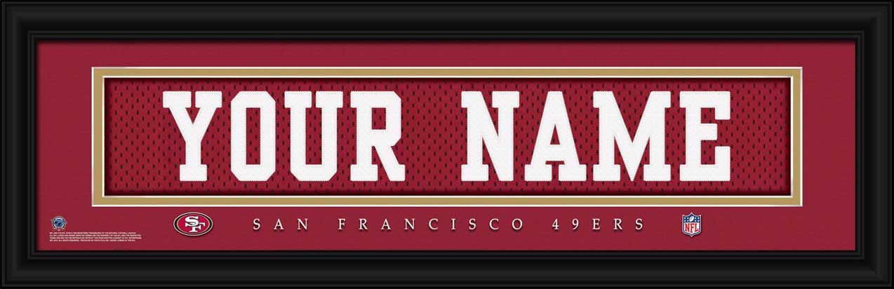 NFL - San Francisco 49ers - Personalized Jersey Nameplate - Framed Picture