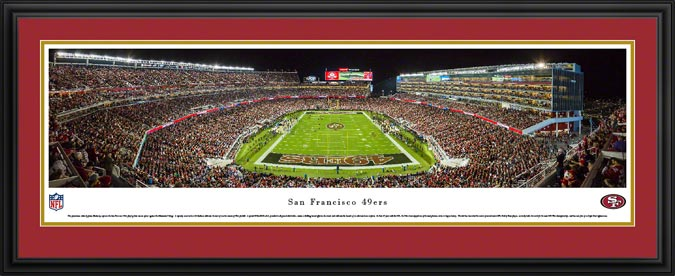 NFL - San Francisco 49ers - Levi's Stadium - End Zone - Framed Picture