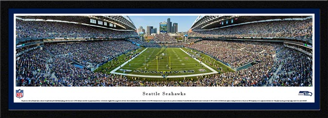 NFL - Seattle Seahawks - CenturyLink Field - End Zone - Framed Picture