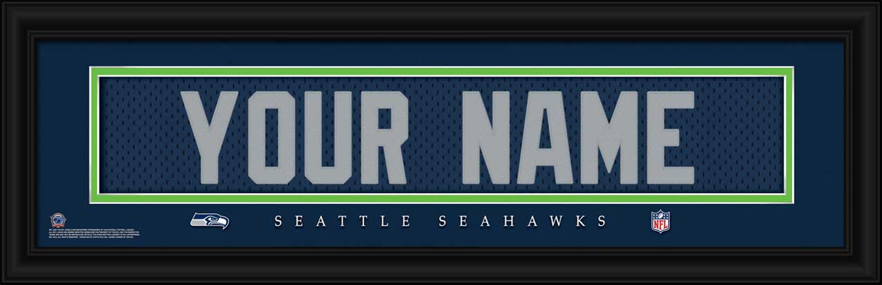 NFL - Seattle Seahawks - Personalized Jersey Nameplate - Framed Picture