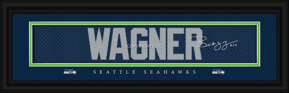 NFL - Seattle Seahawks - Signature Jersey Nameplate - Bobby Wagner - Framed Picture