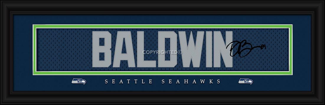 NFL - Seattle Seahawks - Signature Jersey Nameplate - Doug Baldwin - Framed Picture