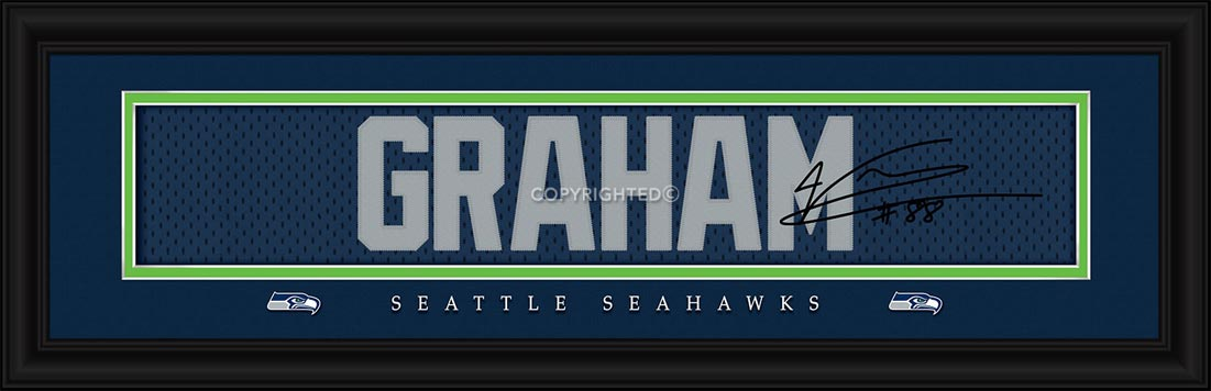 NFL - Seattle Seahawks - Signature Jersey Nameplate - Jimmy Graham - Framed Picture