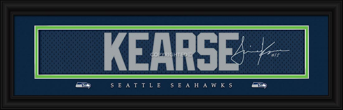 NFL - Seattle Seahawks - Signature Jersey Nameplate - Jermaine Kearse - Framed Picture