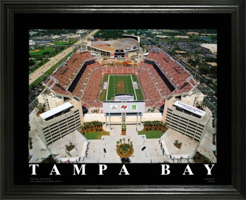 NFL - Tampa Bay Buccaneers - Raymond James Stadium Aerial - Lg - Framed Picture