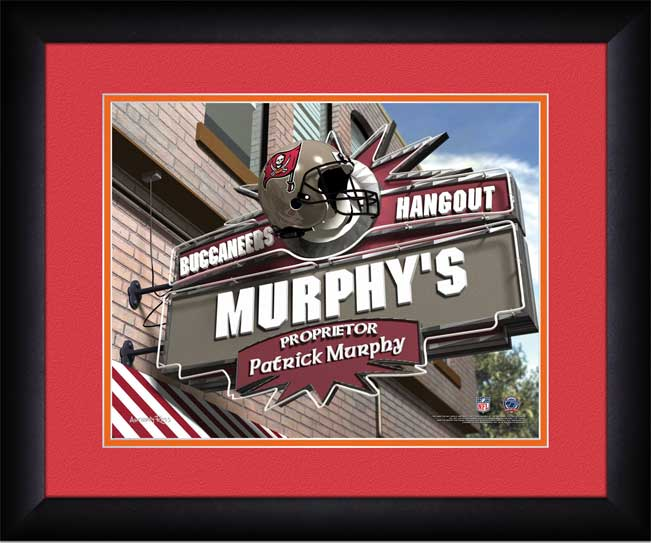 NFL - Tampa Bay Buccaneers - Personalized Hangout Sign - Framed Picture