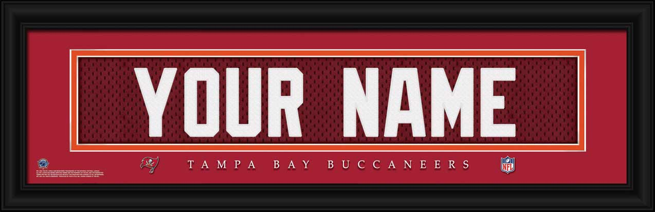 NFL - Tampa Bay Buccaneers - Personalized Jersey Nameplate - Framed Picture