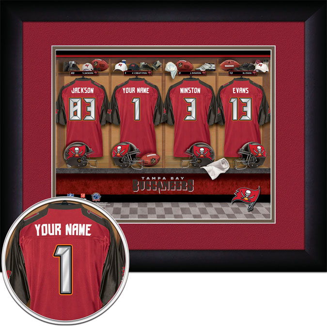 NFL - Tampa Bay Buccaneers - Personalized Locker Room - Framed Picture
