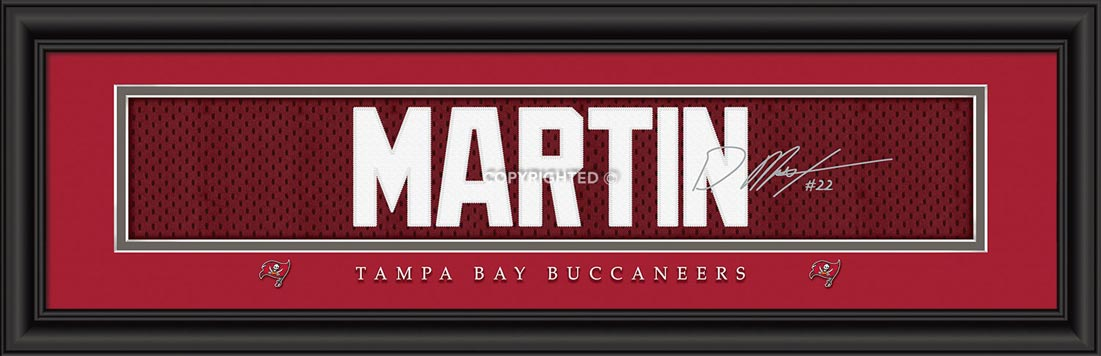 NFL - Tampa Bay Buccaneers - Signature Jersey Nameplate - Doug Martin - Framed Picture