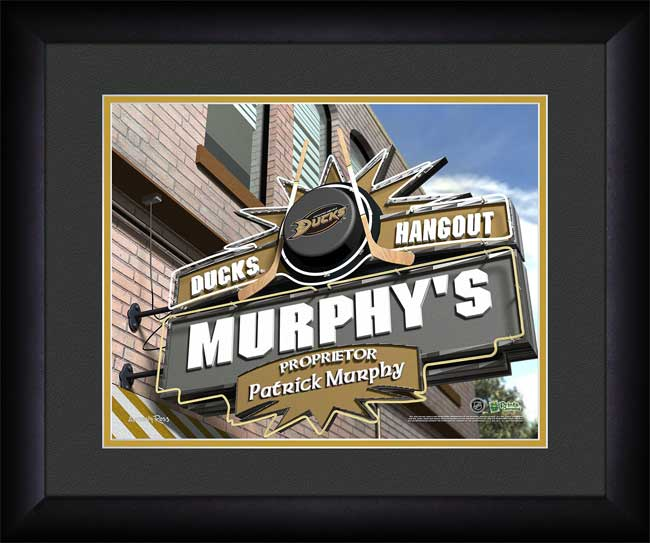 NHL - Anaheim Ducks - Personalized Hangout Sign - Framed Picture