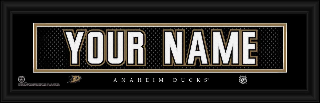 NHL - Anaheim Ducks - Personalized Jersey Nameplate - Framed Picture