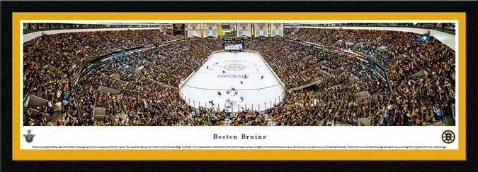 NHL - Boston Bruins - TD Boston Garden - Playoffs 2013 - Framed Picture