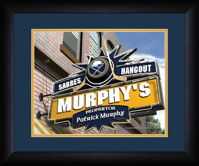 NHL - Buffalo Sabres - Personalized Hangout Sign - Framed Picture