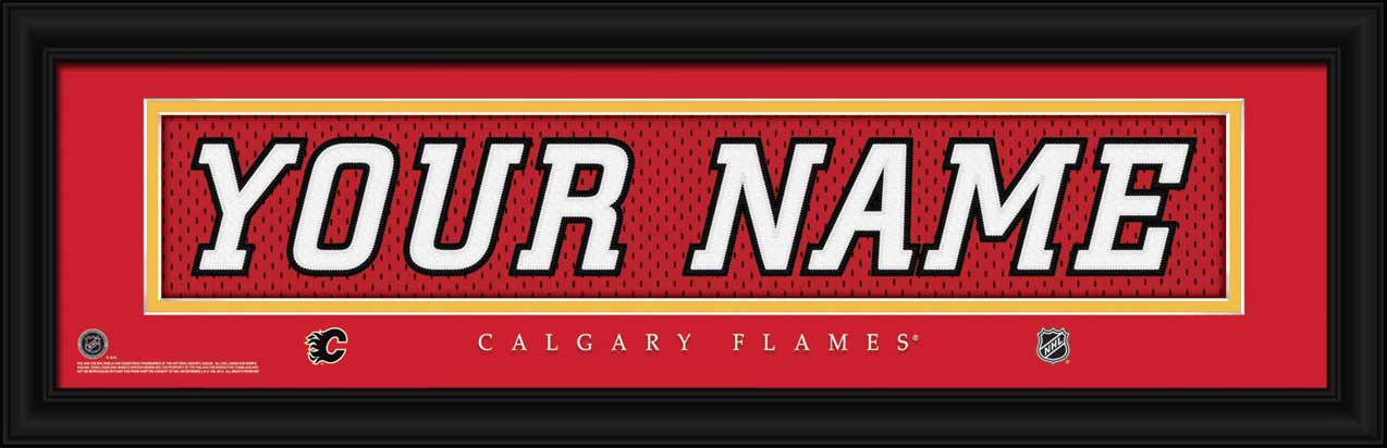 NHL - Calgary Flames - Personalized Jersey Nameplate - Framed Picture