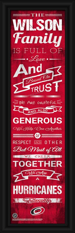 NHL - Carolina Hurricanes - Personalized Family Cheer - Framed Picture