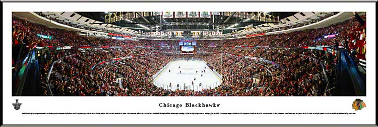 NHL - Chicago Blackhawks - United Center - Playoffs 2013 - Framed Picture