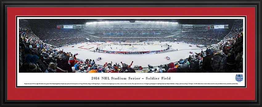 NHL - Chicago Blackhawks - Soldier Field - NHL Stadium Series - Framed Picture