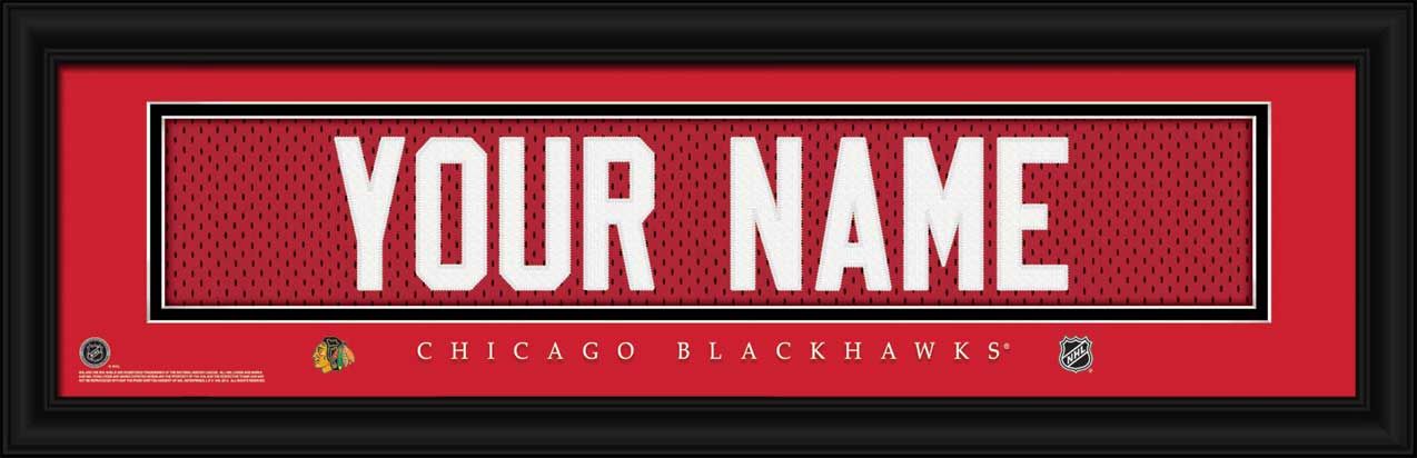 NHL - Chicago Blackhawks - Personalized Jersey Nameplate - Framed Picture