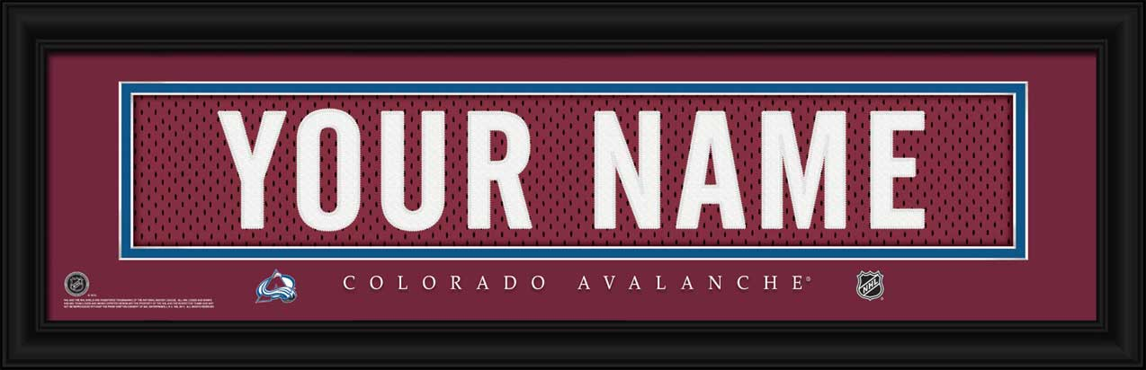 NHL - Colorado Avalanche - Personalized Jersey Nameplate - Framed Picture