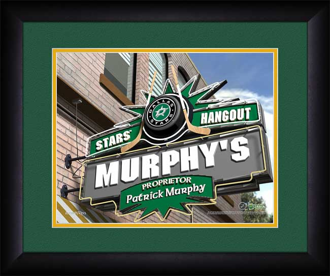 NHL - Dallas Stars - Personalized Hangout Sign - Framed Picture