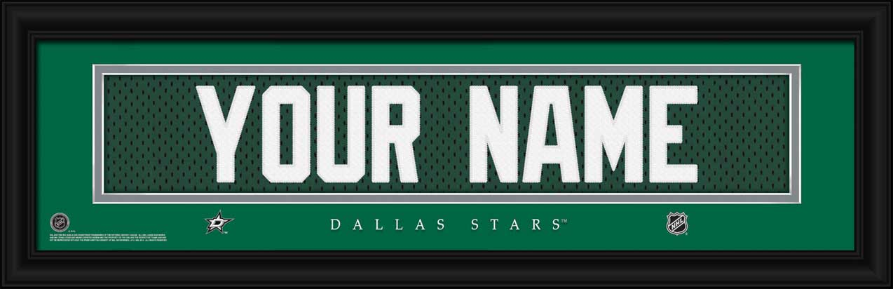 NHL - Dallas Stars - Personalized Jersey Nameplate - Framed Picture