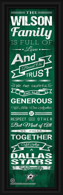 NHL - Dallas Stars - Personalized Family Cheer - Framed Picture